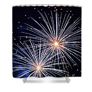 4th Of July Fireworks 3 Shower Curtain by Howard Tenke