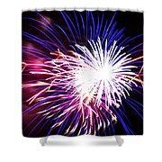 4th Of July Fireworks 15  Shower Curtain by Howard Tenke