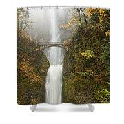 Multnomah Autumn Mist Shower Curtain by Mike  Dawson