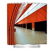 Munich Subway I Shower Curtain by Hannes Cmarits