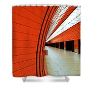 Munich Subway II Shower Curtain by Hannes Cmarits