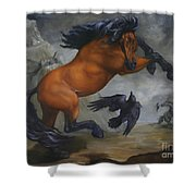 Murder Of Crows Shower Curtain by Lisa Phillips Owens