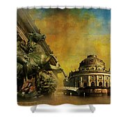 Museum Island Shower Curtain by Catf