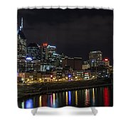 Music And Lights Shower Curtain by CJ Schmit