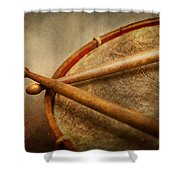 Music - Drum - Cadence  Shower Curtain by Mike Savad