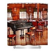 Music - Piano - The Grand Piano Shower Curtain by Mike Savad