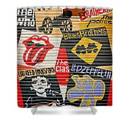 Music street art color Shower Curtain by Luciano Mortula