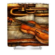 Music - Violin - Played It's Last Song  Shower Curtain by Mike Savad