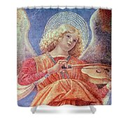 Musical Angel With Violin Shower Curtain by Melozzo da Forli