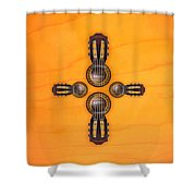 Musical Cross Shower Curtain by Doron Mafdoos
