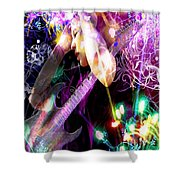 Musical Lights Shower Curtain by Mechala  Matthews