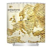 Music's Home Shower Curtain by Gary Grayson