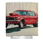 Mustang Launch Shower Curtain by Stacy C Bottoms