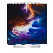 Mutara Nebula Shower Curtain by James Christopher Hill