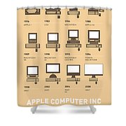 My Evolution Apple mac minimal poster Shower Curtain by Chungkong Art