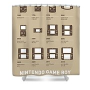 My Evolution Nintendo Game Boy Minimal Poster Shower Curtain by Chungkong Art
