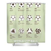 My Evolution Soccer Ball Minimal Poster Shower Curtain by Chungkong Art