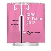 My Giro D' Italia Minimal Poster Shower Curtain by Chungkong Art