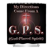 My Gps Shower Curtain by Carolyn Marshall