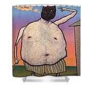 My head is a raisin. Shower Curtain by James W Johnson