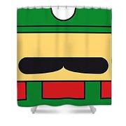 My Mariobros Fig 02 Minimal Poster Shower Curtain by Chungkong Art