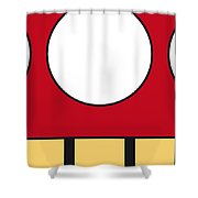 My Mariobros Fig 05a Minimal Poster Shower Curtain by Chungkong Art