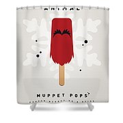 My Muppet Ice Pop - Animal Shower Curtain by Chungkong Art