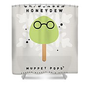 My Muppet Ice Pop - Dr Bunsen Honeydew Shower Curtain by Chungkong Art
