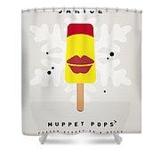 My Muppet Ice Pop - Janice Shower Curtain by Chungkong Art