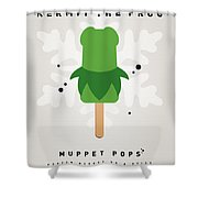 My Muppet Ice Pop - Kermit Shower Curtain by Chungkong Art