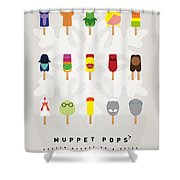 My Muppet Ice Pop - Univers Shower Curtain by Chungkong Art