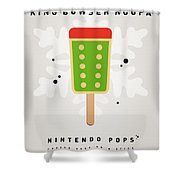 My Nintendo Ice Pop - King Bowser Shower Curtain by Chungkong Art