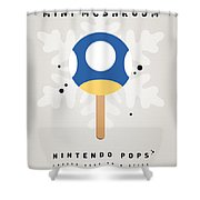 My NINTENDO ICE POP - Mini Mushroom Shower Curtain by Chungkong Art