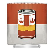 My Star Warhols Luke Skywalker Minimal Can Poster Shower Curtain by Chungkong Art