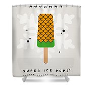 My Superhero Ice Pop - Aquaman Shower Curtain by Chungkong Art