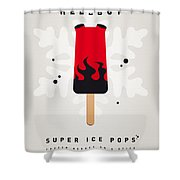 My Superhero Ice Pop - Hellboy Shower Curtain by Chungkong Art