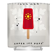 My SUPERHERO ICE POP - Iron Man Shower Curtain by Chungkong Art