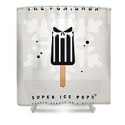 My Superhero Ice Pop - The Punisher Shower Curtain by Chungkong Art