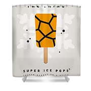 My Superhero Ice Pop - The Thing Shower Curtain by Chungkong Art