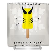 My Superhero Ice Pop - Wolverine Shower Curtain by Chungkong Art