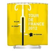 My Tour De France 2012 Minimal Poster Shower Curtain by Chungkong Art