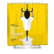 My Tour De France Minimal Poster Shower Curtain by Chungkong Art