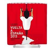 My Vuelta A Espana Minimal Poster - 2013 Shower Curtain by Chungkong Art