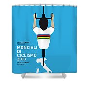 MY World Championships MINIMAL POSTER Shower Curtain by Chungkong Art