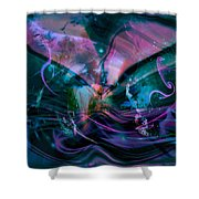 Mysteries Of The Universe Shower Curtain by Linda Sannuti