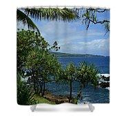 Nahiku Kaelua Honolulunui Bay Maui Hawaii Shower Curtain by Sharon Mau