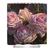 Nana's Roses Shower Curtain by Karen Whitworth