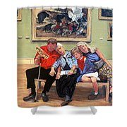 Nap Time At The Louvre Shower Curtain by Tom Roderick