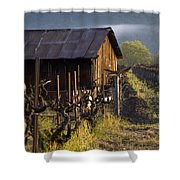 Napa Morning Shower Curtain by Bill Gallagher