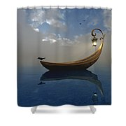 Narcissism Shower Curtain by Cynthia Decker